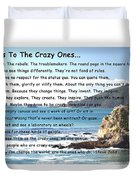 To The Crazy Ones Duvet Cover