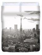 Tokyo Tower Square Duvet Cover