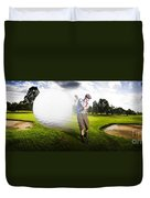 Top Flight Golf Duvet Cover