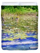 Torch River Water Lilies Duvet Cover