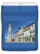 Torre Dos Clerigos Porto Portugal Duvet Cover