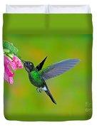 Tourmaline Sunangel Hummingbird Duvet Cover