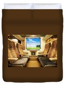 Travel In Comfortable Train. Duvet Cover