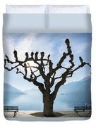 Tree And Bench Duvet Cover
