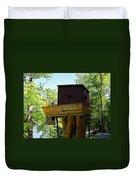 Tree House Boat 3 Duvet Cover