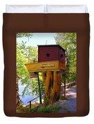 Tree House Boat Duvet Cover