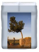 Tree Rock Wyoming Duvet Cover