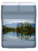 Trees And Lake Duvet Cover