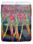 Trees Around Faal Season  Digitally Painted Photograph Taken Around Poconos  Welcome To The Pocono M Duvet Cover