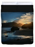 Trinidad Beach Sunset Duvet Cover by Adam Jewell