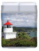 Trinidad Head Light House On The Coast Duvet Cover