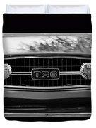 Triumph Tr 6 Grille Emblem Duvet Cover