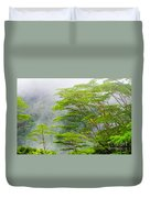 Tropical Forest, Seychelles Duvet Cover