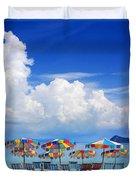 Tropical Holiday Destination Duvet Cover