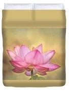 Tropical Lotus Flower Duvet Cover