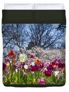 Tulips At Dallas Arboretum V94 Duvet Cover