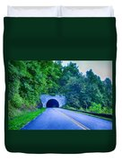 Tunnel Through Mountains On Blue Ridge Parkway In The Morning Duvet Cover