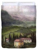 Tuscan Landscape Duvet Cover