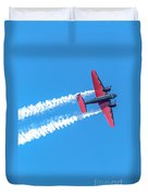 Twin Engine Plane  Duvet Cover