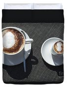Two Cups Of Coffee Duvet Cover