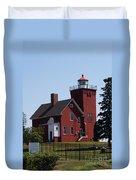 Two Harbors Lighthouse Duvet Cover