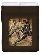Two Of A Kind Duvet Cover by Priscilla Burgers