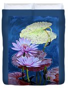 Two Purple Lilies Duvet Cover