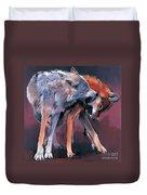 Two Wolves Duvet Cover by Mark Adlington