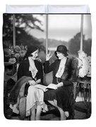 Two Women Talking Duvet Cover