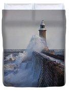 Tynemouth Pier Duvet Cover