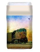 Union Pacific Coal Train Duvet Cover