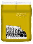 University Of Washington - Suzzallo Library - Gold Duvet Cover