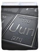 Ununnilium Chemical Element Duvet Cover