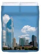 Uptown Charlotte North Carolina Cityscape Duvet Cover