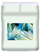 Urea Or Carbamide Crystals In Polarized Light Duvet Cover