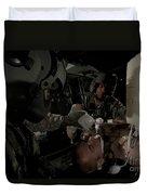 U.s. Army Medics Simulating Ventilation Duvet Cover
