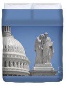 Us Capitol Peace Monument Duvet Cover