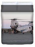 U.s. Marines Board A Ch-46 Sea Knight Duvet Cover by Stocktrek Images