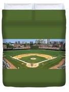 Usa, Illinois, Chicago, Cubs, Baseball Duvet Cover