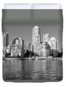 Vancouver Bc Downtown Skyline Duvet Cover