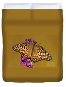 Variegated Fritillary Duvet Cover