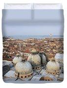Terracotta Skyline Venice Italy Duvet Cover