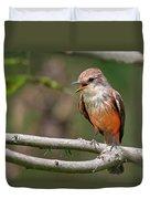 Vermilion Flycatcher Duvet Cover