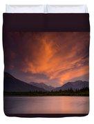 Vermillion Lakes Sunset Duvet Cover