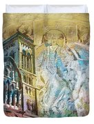 Vezelay Church And Hill Duvet Cover