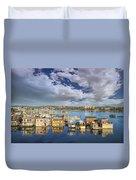 Victoria Bc Fishermans Wharf Duvet Cover