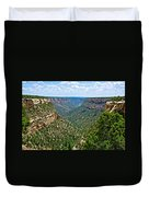 View From Sun Temple In Mesa Verde National Park-colorado  Duvet Cover