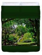 View Of A Japanese Garden Duvet Cover