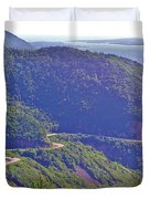View Of Highlands Road From Skyline Trail In Cape Breton Highlands Np-ns Duvet Cover