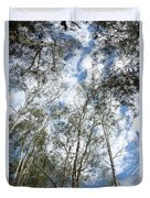 View Of Towering Trees Duvet Cover